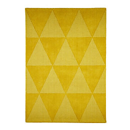 Colours Lucille Yellow Rug (L)1.7m (W)1.2m