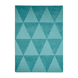 Colours Lucille Teal Rug (L)1.7m (W)1.2m