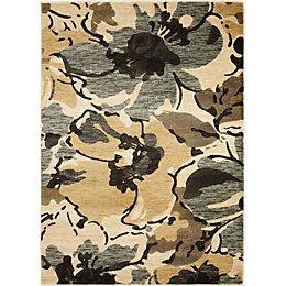 Colours Antonia Beige & Brown Floral Rug (L)1.7m