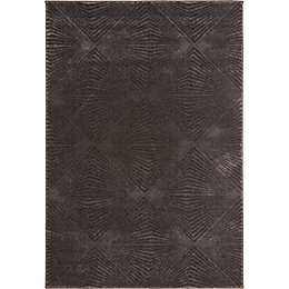 Colours Isabelle Grey Geometric Rug (L)1.7m (W)1.2m