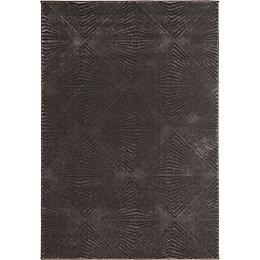Colours Isabelle Grey Geometric Rug (L)1.7m (W)1.2m