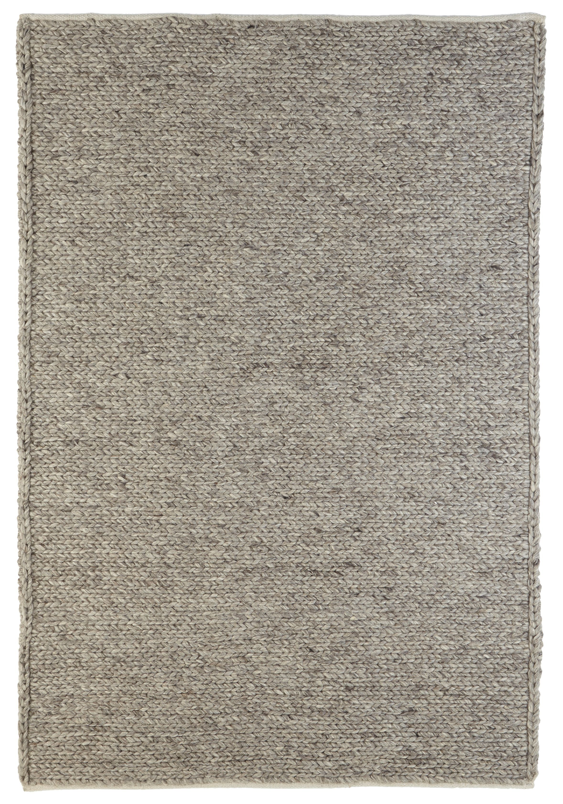 Colours Claudine Grey Thick Knit Rug (L)2.3M (W)1.6 M | Departments | DIY  at B&Q