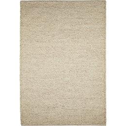 Colours Claudine Beige Thick Knit Rug (L)2.3m (W)1.6m