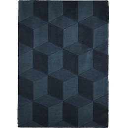 Colours Elyza Blue Rug (L)2.3m (W)1.6m