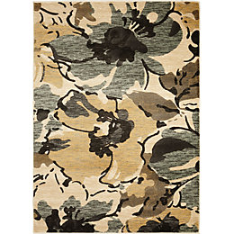 Colours Antonia Beige & Brown Floral Rug (L)2.3m