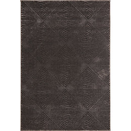 Colours Isabelle Grey Geometric Rug (L)2.3m (W)1.6m