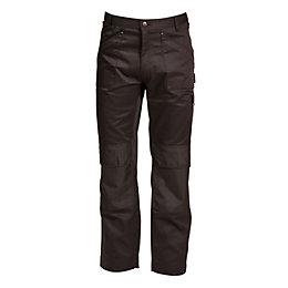 "Rigour Multi-Pocket Black Trousers W32"" L32-34"""