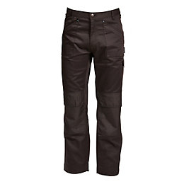 "Rigour Multi-Pocket Black Trousers W34"" L32-34"""