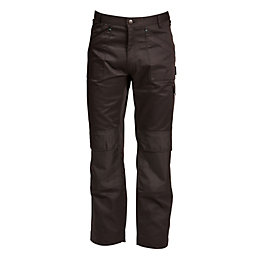 "Rigour Multi-Pocket Black Trousers W36"" L34"""