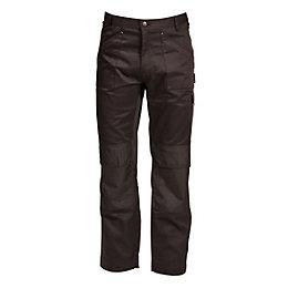 "Rigour Multi-Pocket Black Trousers W38"" L32-34"""