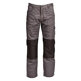 "Rigour Multi-Pocket Grey Trousers W34"" L32-34"""