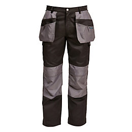 "Rigour Holster Pocket Black Trousers W34"" L32-34"""