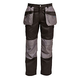 "Rigour Holster Pocket Black Trousers W36"" L34"""