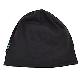 Rigour Black Reversible Beanie Hat One Size