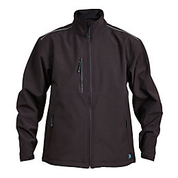 Rigour Black Water Repellent Softshell Jacket Medium
