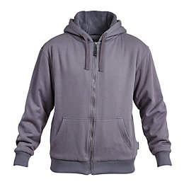 Rigour Grey Full Zip Hoodie Large