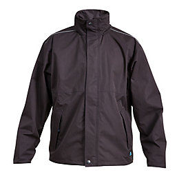 Rigour Black Waterproof Work Jacket Medium