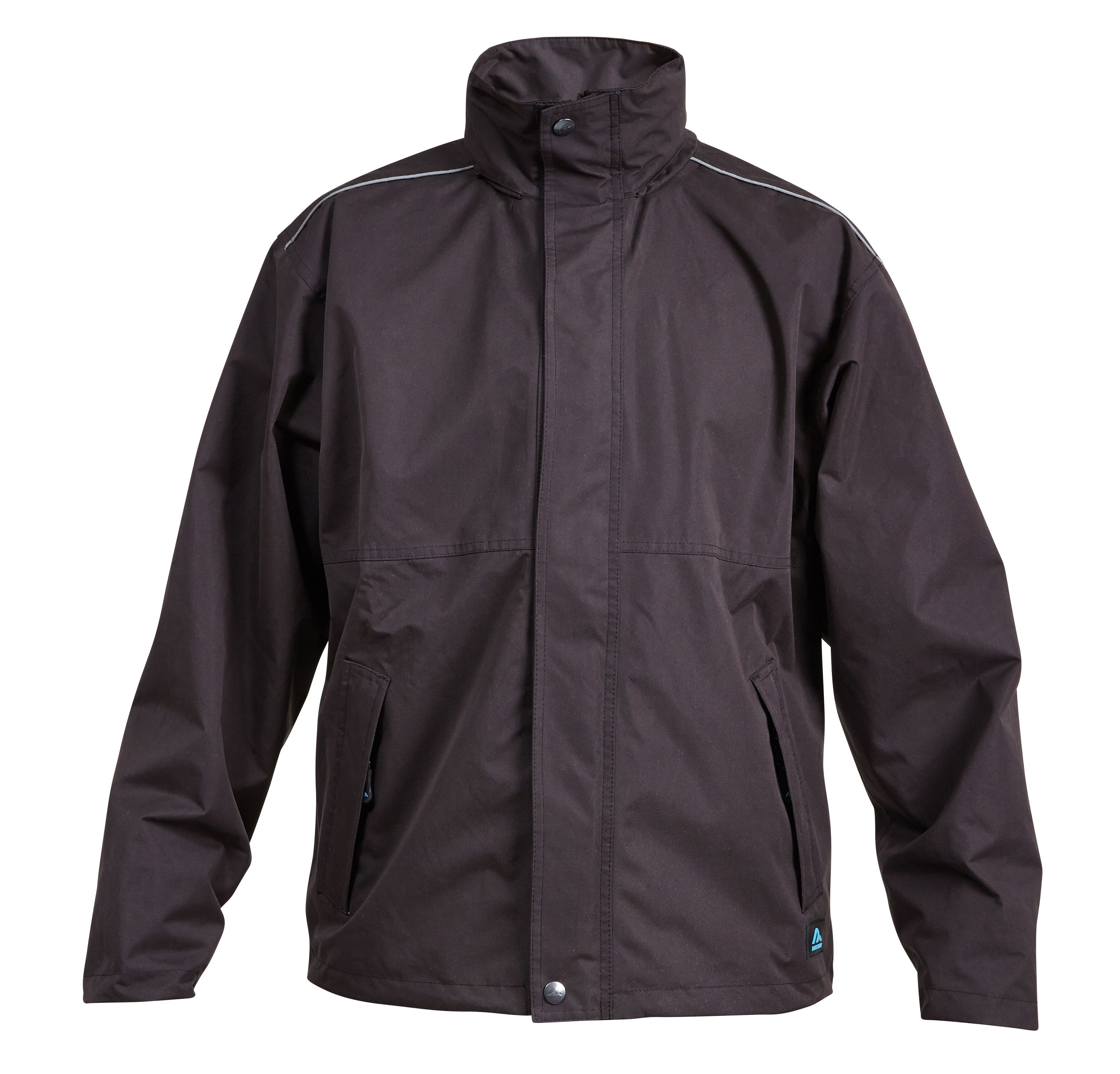 Rigour Black Waterproof Work Jacket Large | Departments | DIY at B&Q