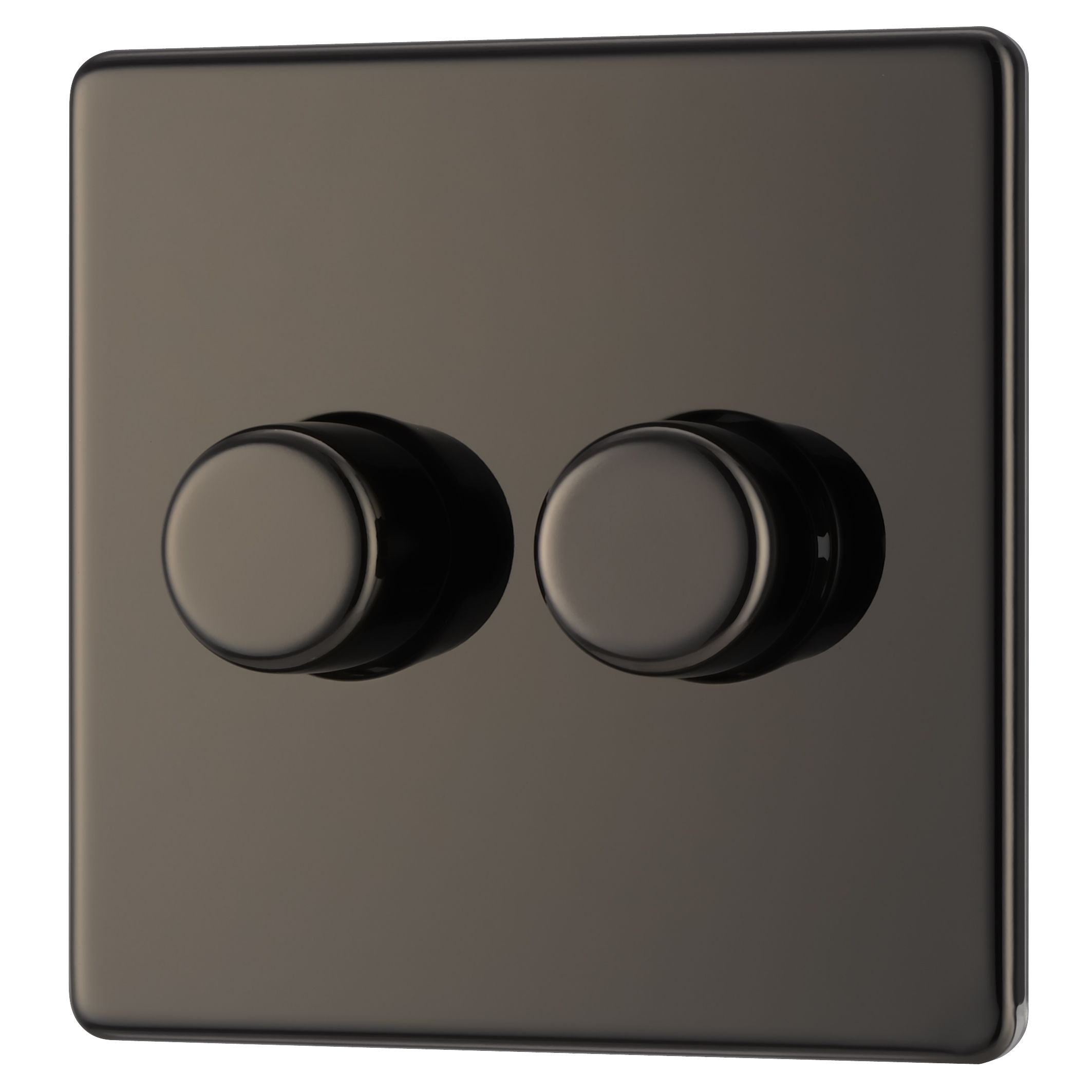 Colours 2-way Double Black Nickel Toggle Switch