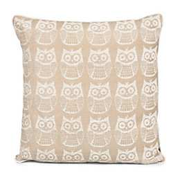 Taquara Owl Ecru Cushion