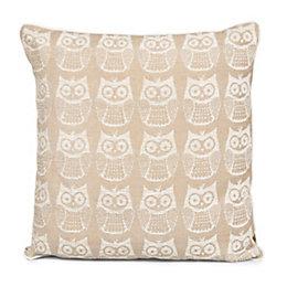Taquara Owl Ecru Cushion