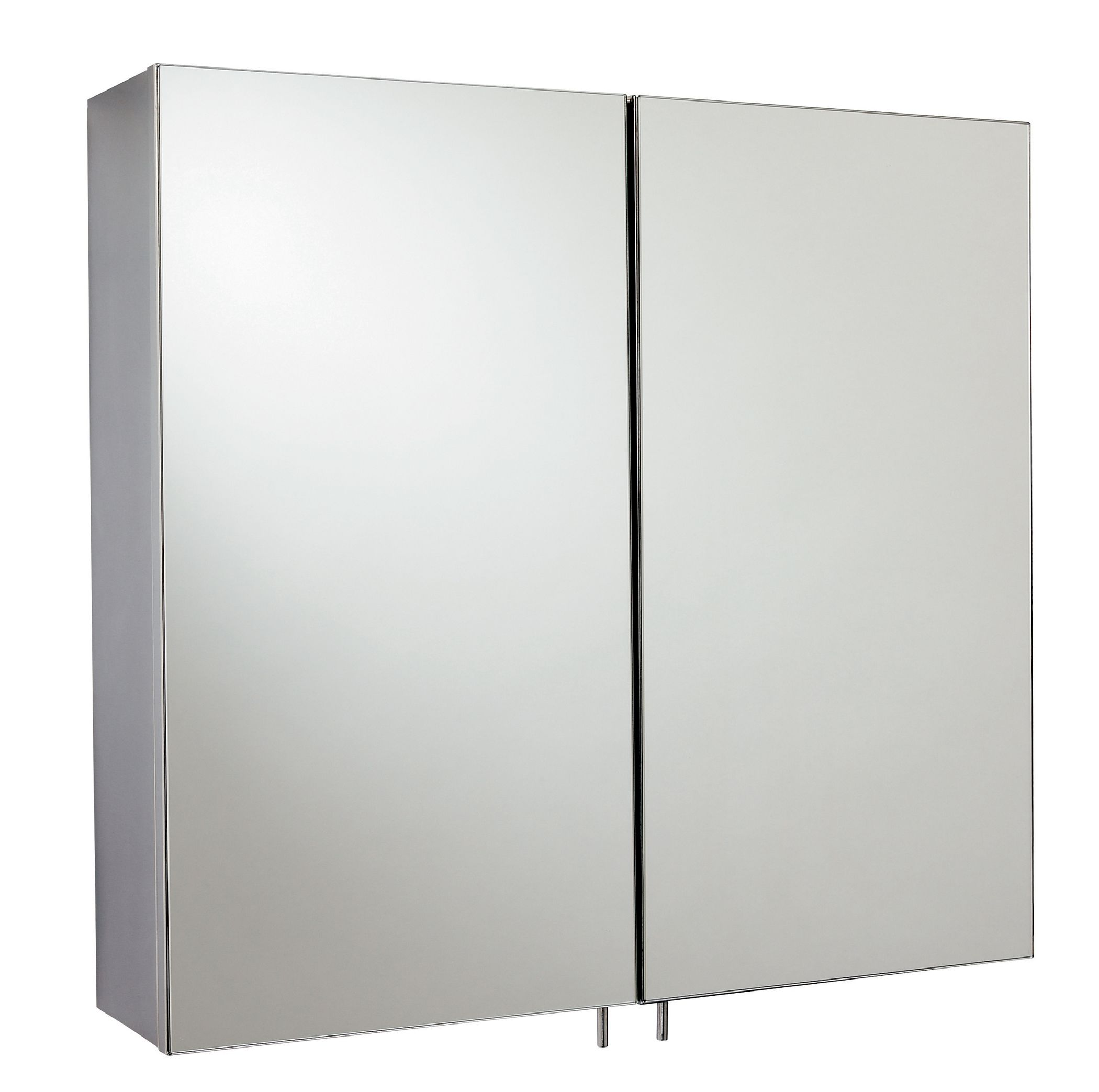Fonteno Double Door Silver Mirror Cabinet