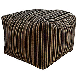 Sedum Striped Black Bean Bag Cube