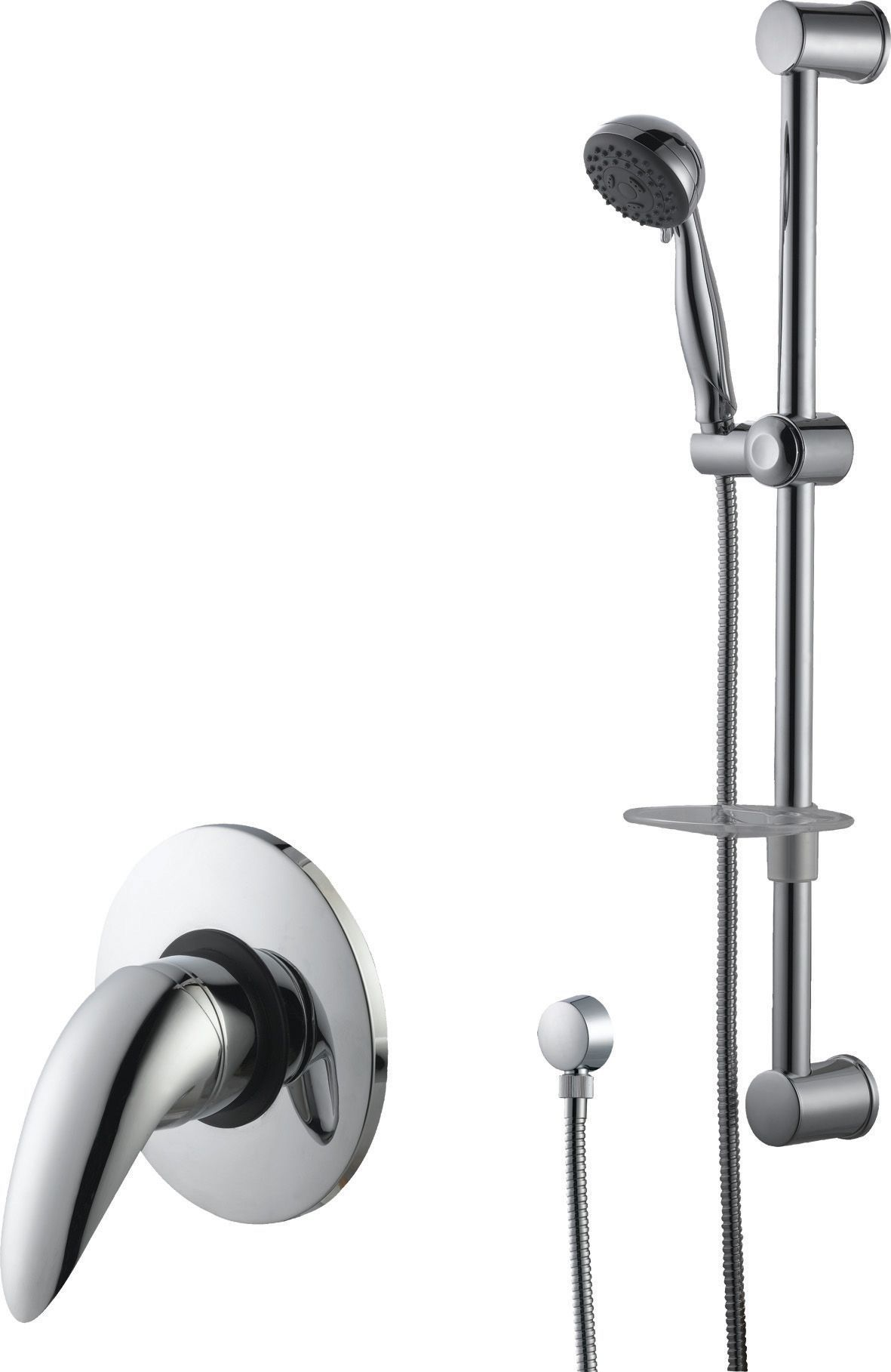 Cooke & Lewis Wave Chrome Manual Single Lever Mixer Shower