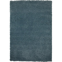 Colours Noelia Blue Rug (L)1.7m (W)1.2m