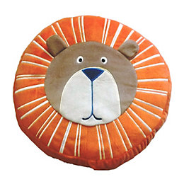 Animal Friends Lion Orange & Brown Cushion