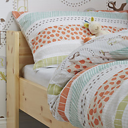 Colours Animals Multicolour Junior Cot Duvet Set