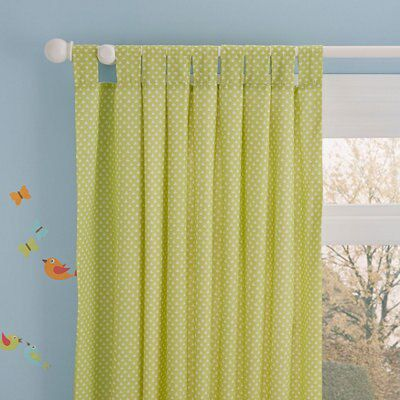 Owl Bedroom Curtains Owl Green White Spotty Tab Top Lined Childrens Curtains W