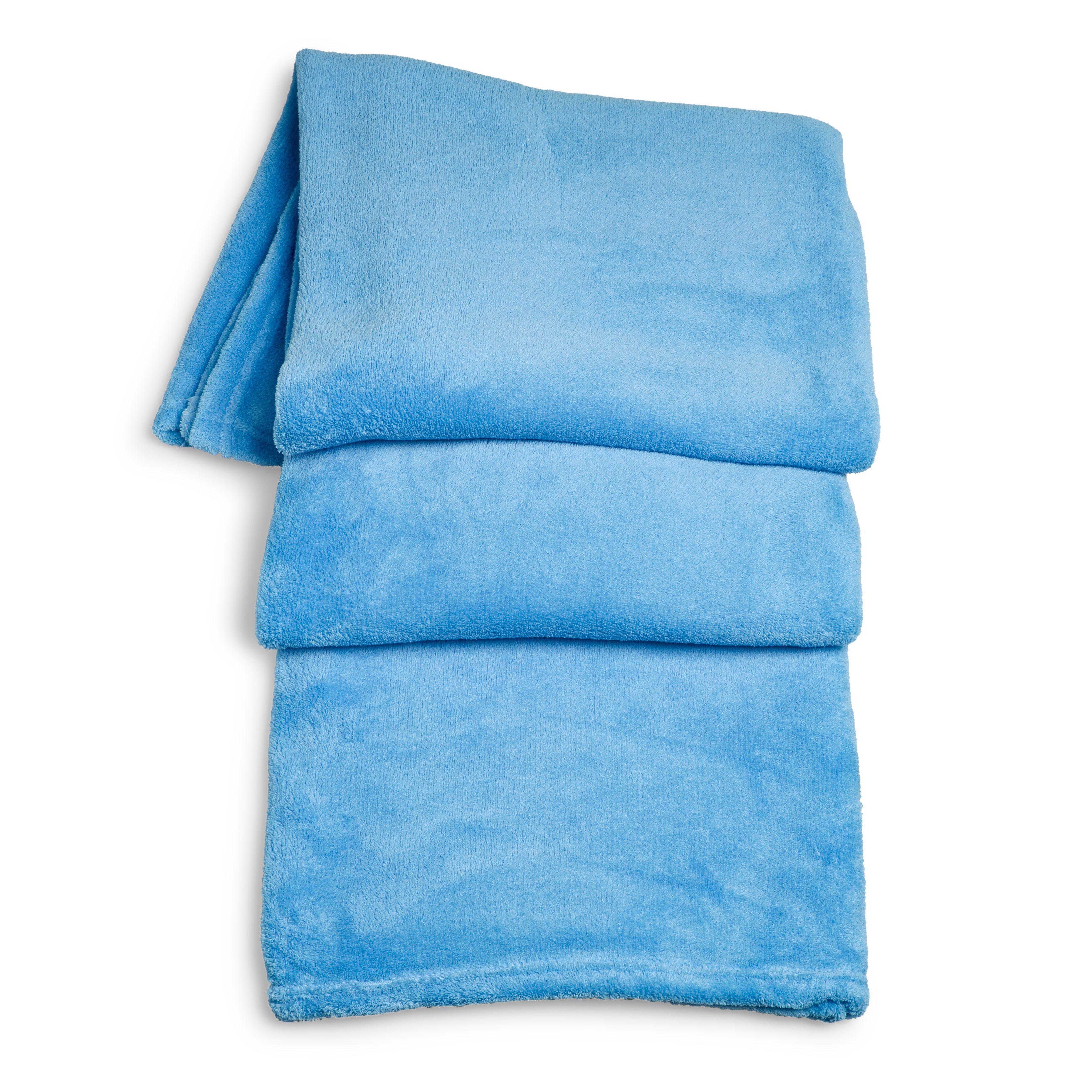 Supersoft Blue Fleece Throw