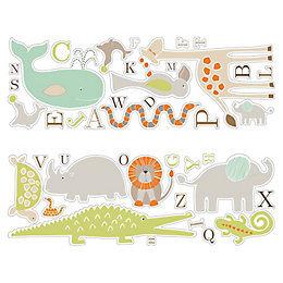 Colours Animal Friends Pastels Self Adhesive Wall Sticker