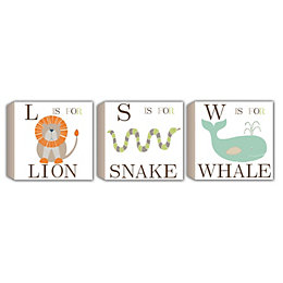 Lion, Snake & Whale Pastel Shades Box Art