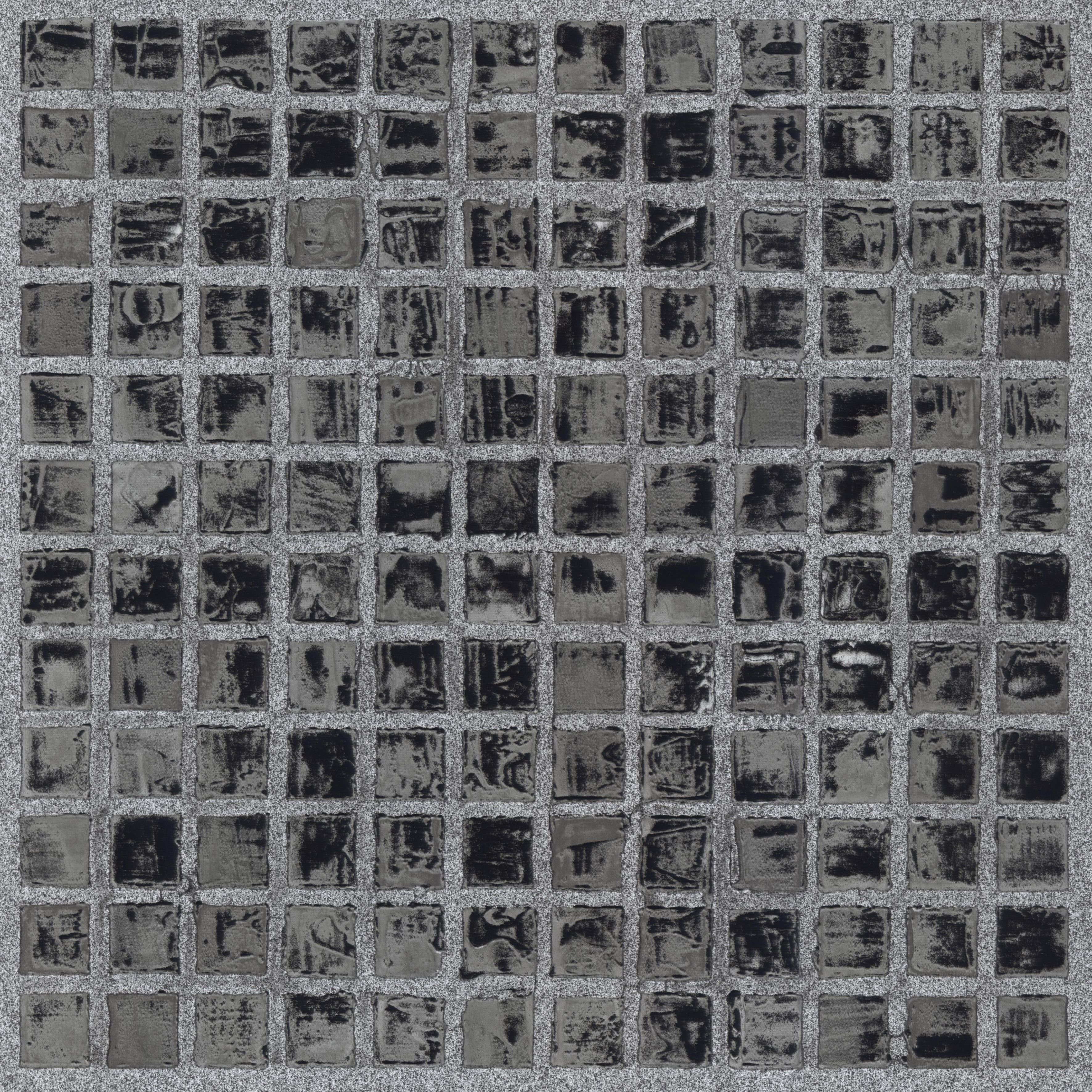 Black Mosaic Effect Self Adhesive Vinyl Tile 1.02 M² Pack