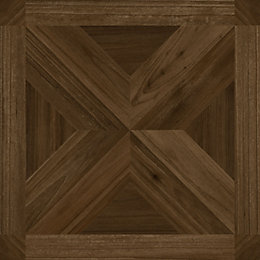Colours Dark Parquet Effect Self Adhesive Vinyl Tile