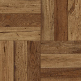 Colours Dark Rustic Parquet Oak Effect Self Adhesive