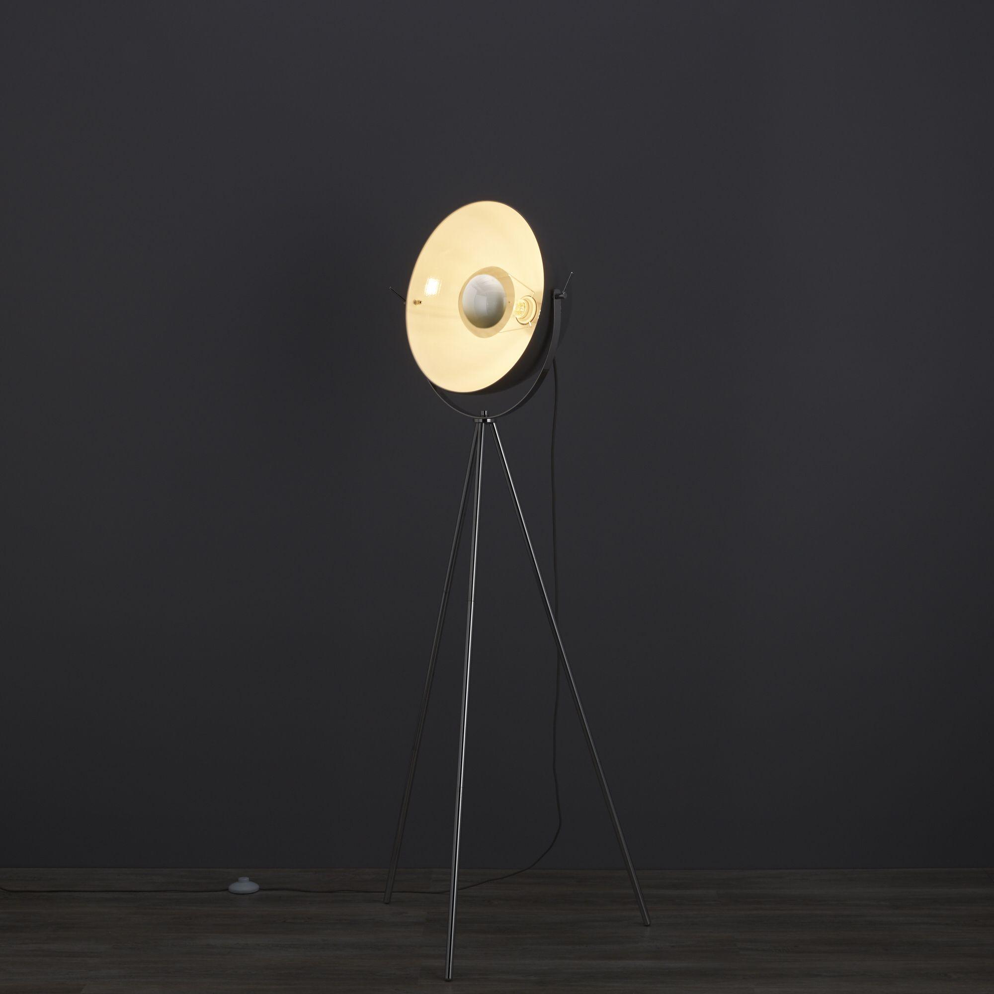 Alboran tripod chrome effect floor lamp departments diy at b q - Diy ceiling lamps ...
