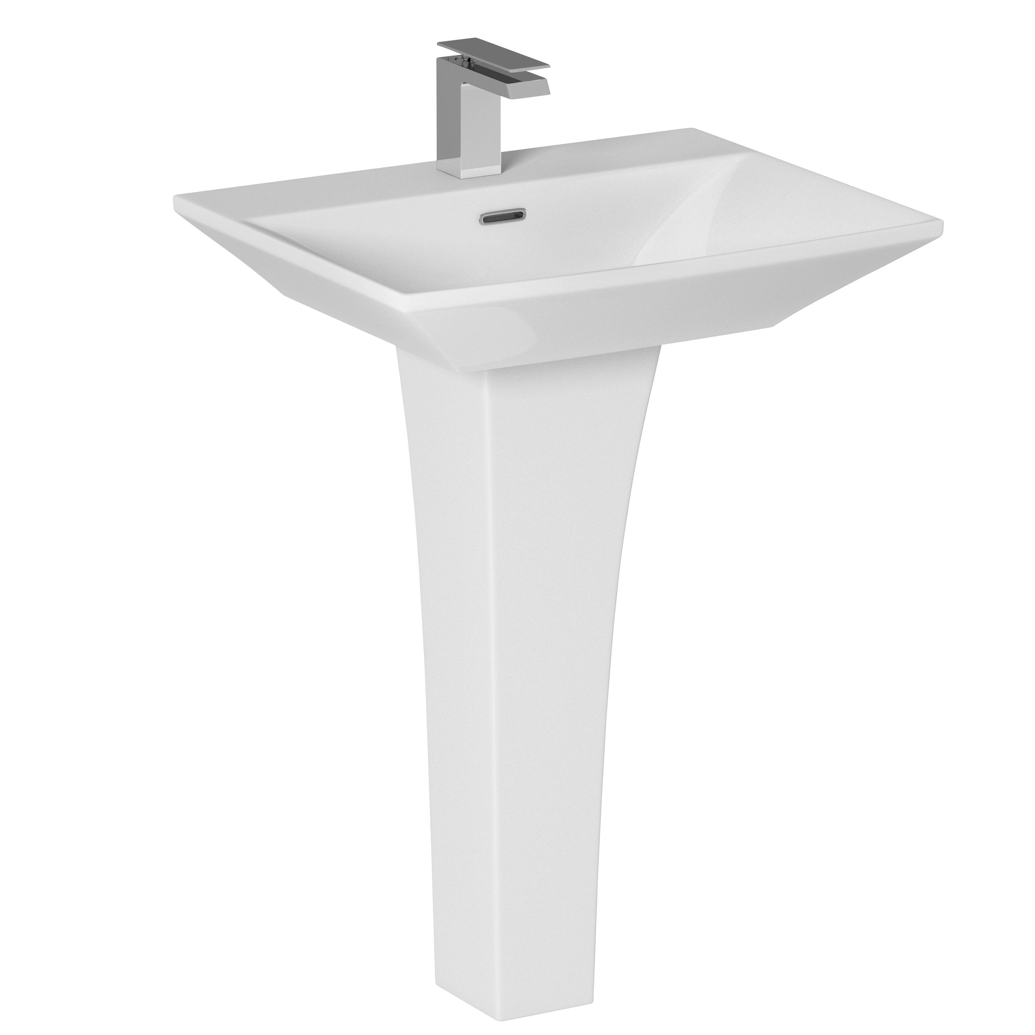 Bathroom Sinks B&Q Ireland cooke & lewis carapelle full pedestal basin | departments | diy at b&q