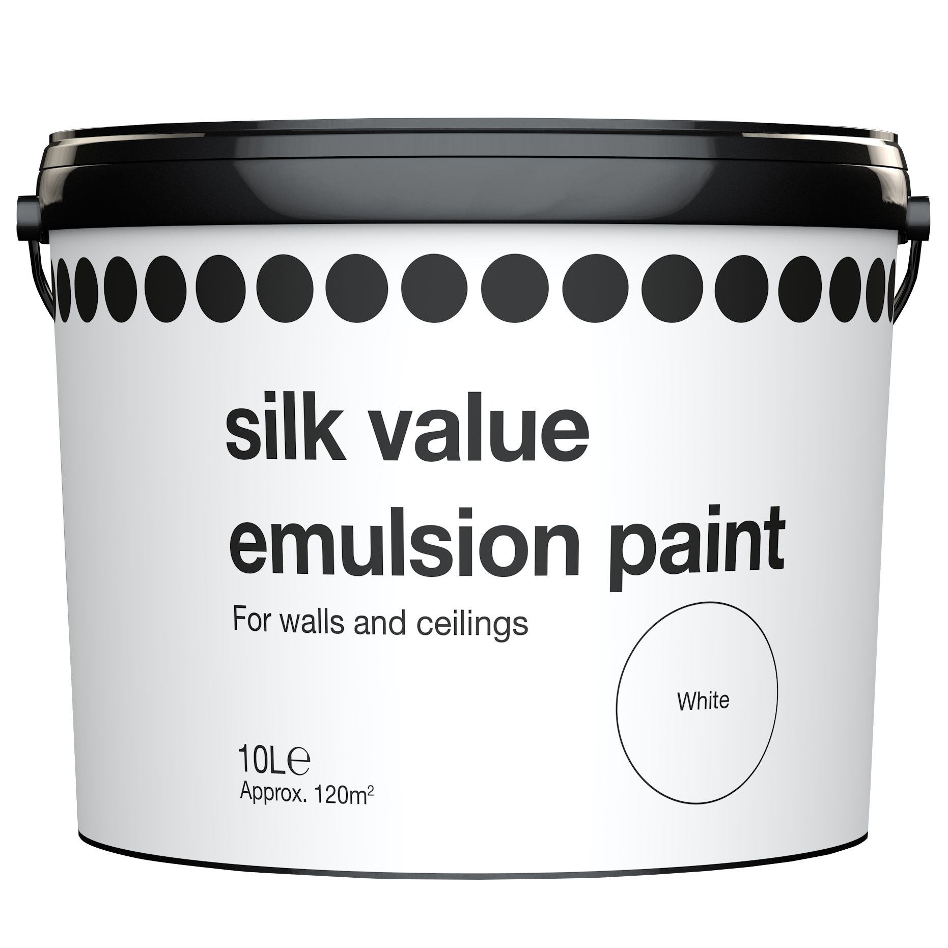 value white silk emulsion paint 10l departments diy at b q
