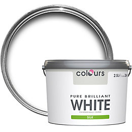 Colours Pure Brilliant White Silk Emulsion Paint 2.5L