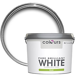 Colours Pure Brilliant White Silk Emulsion Paint 5L
