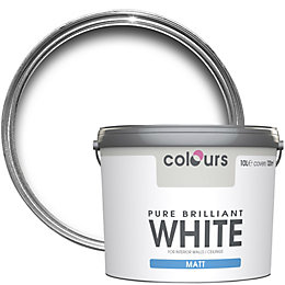 Colours Pure Brilliant White Matt Emulsion Paint 10L