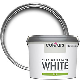 Colours Pure Brilliant White Silk Emulsion Paint 10L