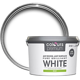 Colours Premium Pure Brilliant White Silk Emulsion Paint