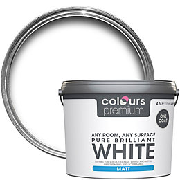 Colours Premium Pure Brilliant White Matt Emulsion Paint