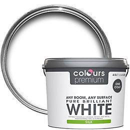 Colours Premium Pure Brilliant White Silk Emulsion Paint