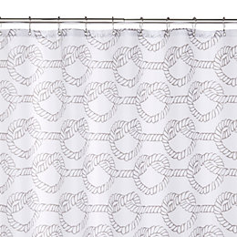 Grey Love Knots Shower Curtain (L)1.8 M