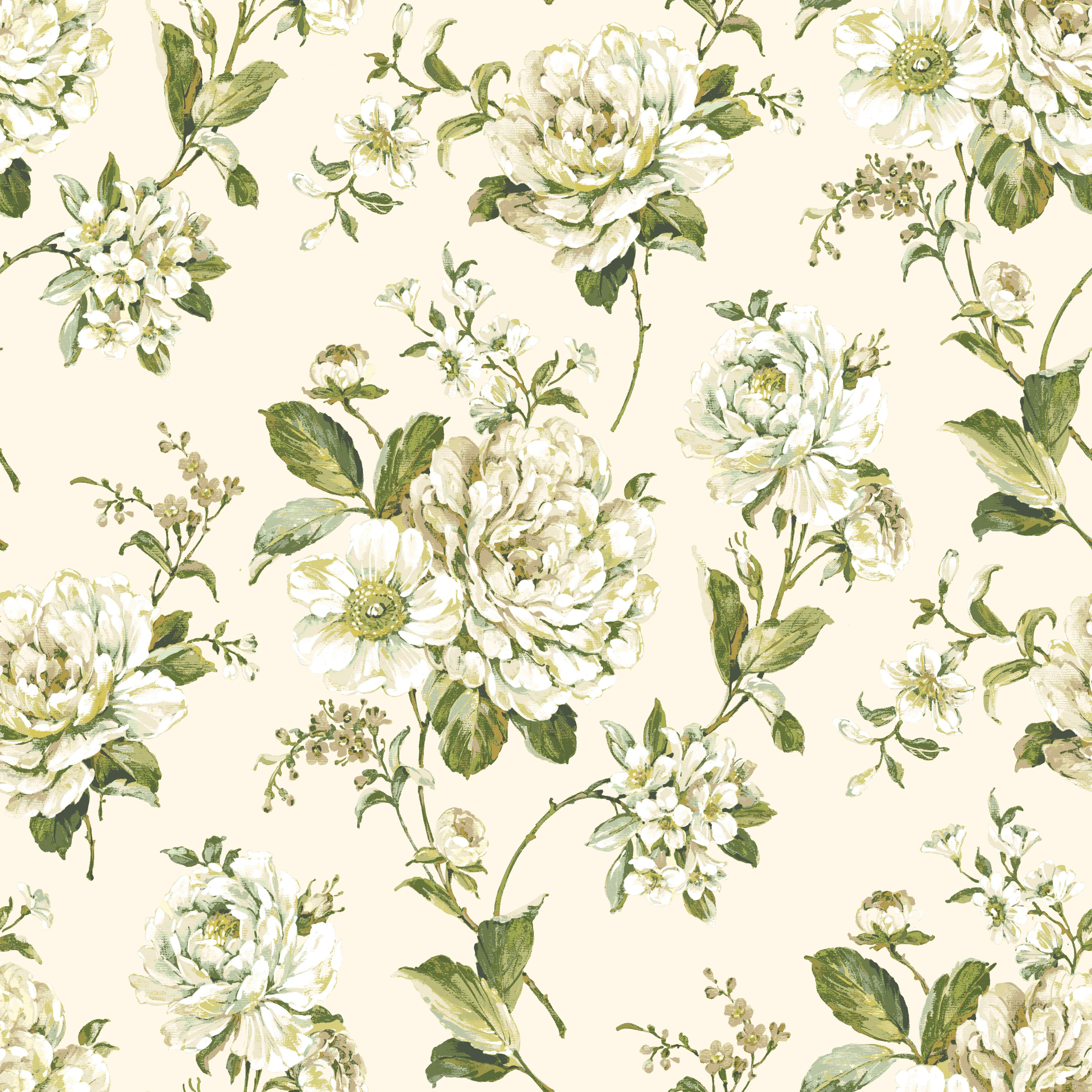 colours bethany cream green floral wallpaper On green wallpaper b q